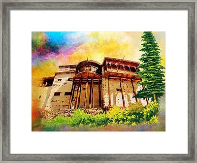 Baltit Fort Framed Print by Catf