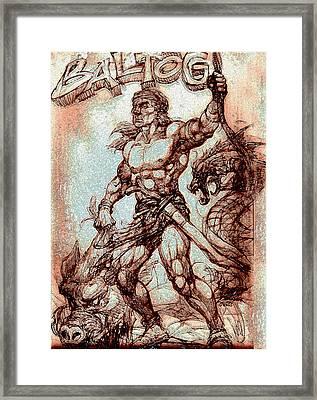 Baltog Bicol Epic Framed Print by Manuel Cadag