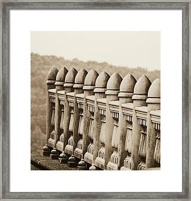 Balustrade Framed Print by Brenda Conrad