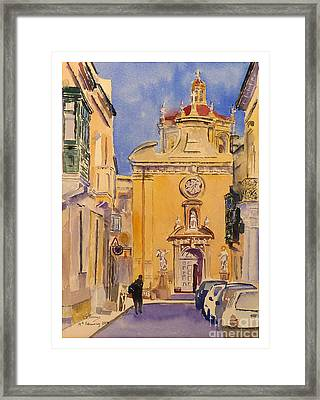 Balzan Parish Church Framed Print