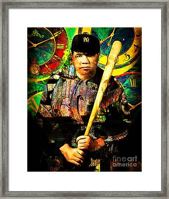 Bambino And Company Steampunk Homerun Machine 20141220 Framed Print