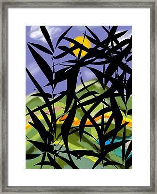 Bamboo Framed Print by Christine Fournier