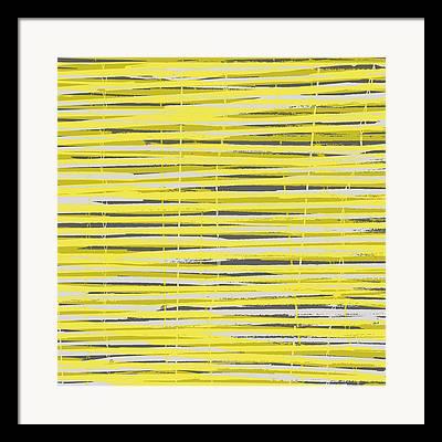 Bamboo Fence Digital Art Framed Prints