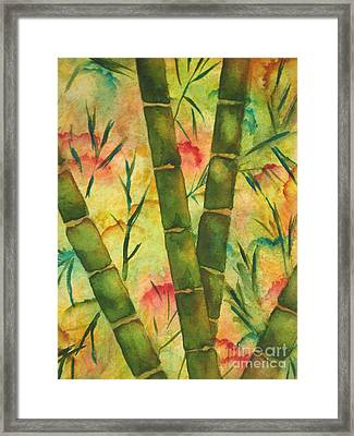 Bamboo Garden Framed Print by Chrisann Ellis