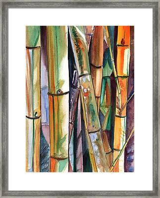 Framed Print featuring the painting Bamboo Garden by Marionette Taboniar