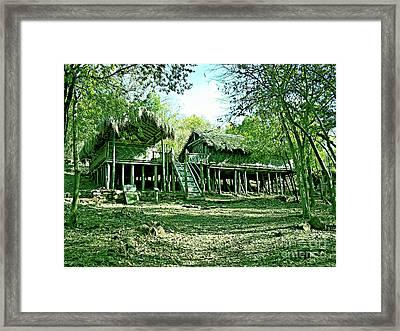 Bamboo House Framed Print