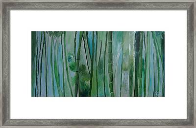 Bamboo Jungle Framed Print by Jessie Nolan