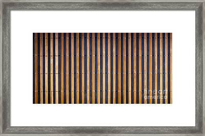 Bamboo Mat Texture Framed Print