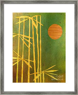 Bamboo Moon Framed Print