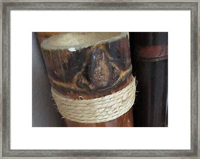 Bamboo Node On Rain Stick Framed Print