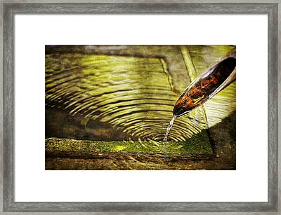 Bamboo Water Pipe  Framed Print by Maria Angelica Maira