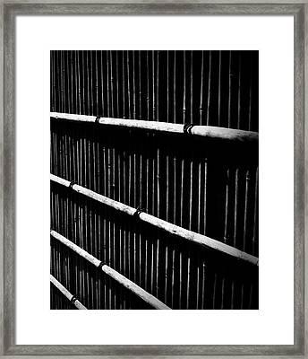 Bamboo Screen Framed Print