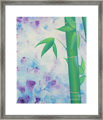 Bamboo Tryptych 1 Framed Print