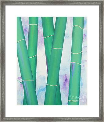 Bamboo Tryptych 2 Framed Print