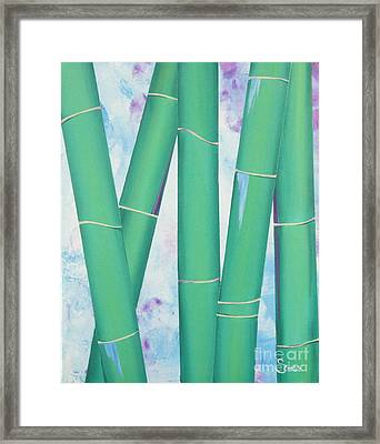 Bamboo Tryptych 3 Framed Print