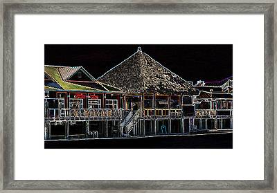 Bamboo Willies In Neon Framed Print