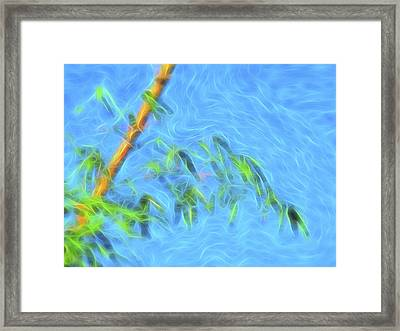 Framed Print featuring the digital art Bamboo Wind 1 by William Horden