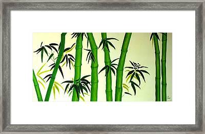 Bamboos Framed Print