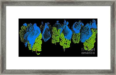 Framed Print featuring the photograph Banana Art by Rudi Prott