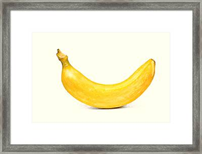 Framed Print featuring the digital art Banana by David Blank