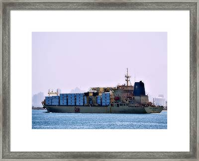 Banana Float Framed Print by See My  Photos