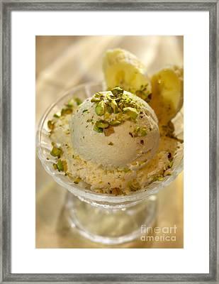 Banana Ice Cream Dessert  Framed Print by Iris Richardson