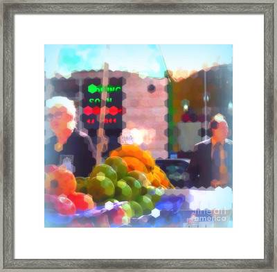 Banana - Street Vendors Of New York City Framed Print by Miriam Danar
