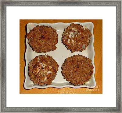 Banana Oat Crunch Muffins Framed Print