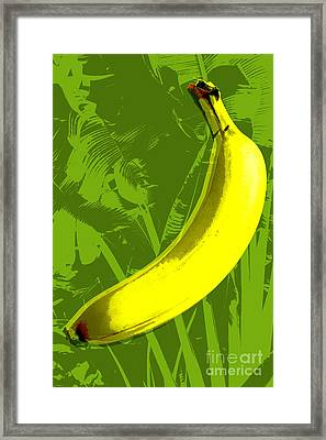 Banana Pop Art Framed Print
