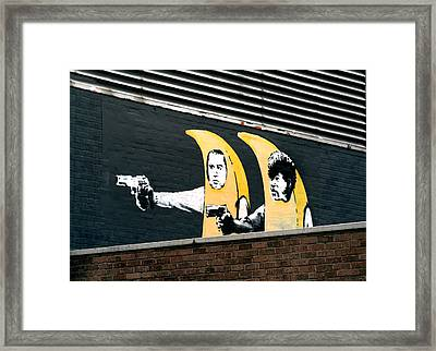 Banana Pulp Fiction  Framed Print by A Rey
