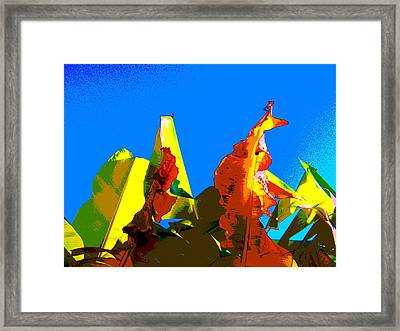 Banana Skies Framed Print by Rebecca Flaig