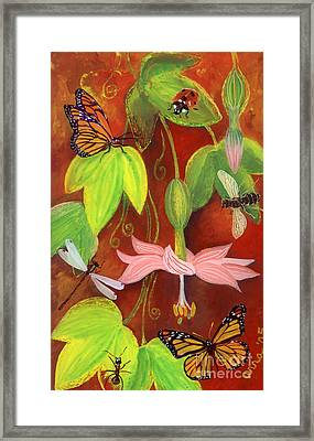 Framed Print featuring the painting Bananapoka by Anna Skaradzinska