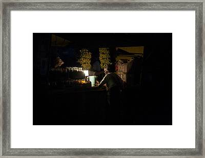 Bananas And Bottles Framed Print