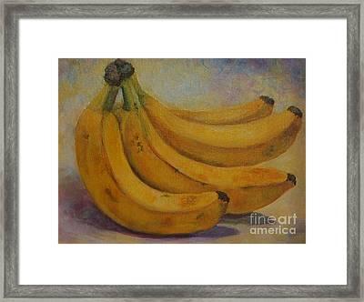 Bananas Framed Print by Jana Baker