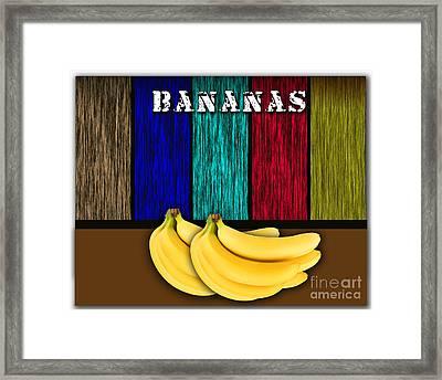 Bananas Framed Print by Marvin Blaine