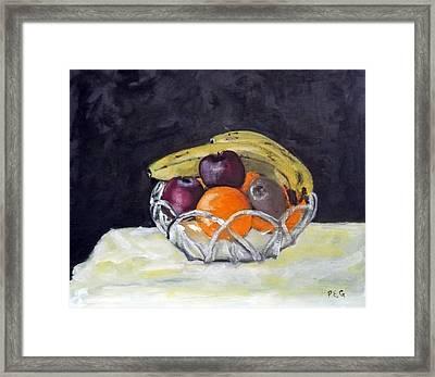 Banana's Framed Print by Peter Edward Green