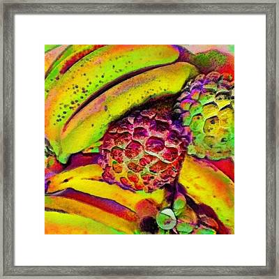 Bananas With Sugarapples - Square Framed Print