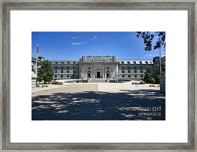 Bancroft Hall Framed Print by Olivier Le Queinec