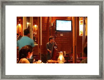 Band At Palaad Tawanron Restaurant - Chiang Mai Thailand - 01132 Framed Print by DC Photographer