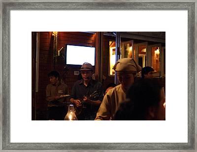 Band At Palaad Tawanron Restaurant - Chiang Mai Thailand - 01134 Framed Print by DC Photographer