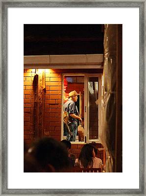 Band At Palaad Tawanron Restaurant - Chiang Mai Thailand - 01138 Framed Print by DC Photographer