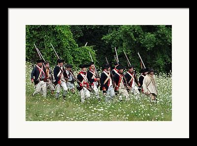 Revolutionary Wars Re-enactment Framed Prints