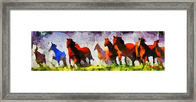 Band Of Horses Tnm Framed Print by Vincent DiNovici