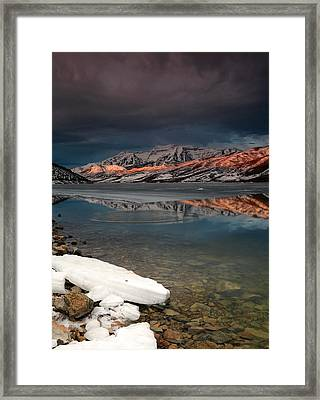 Band Of Light Over Deer Creek. Framed Print