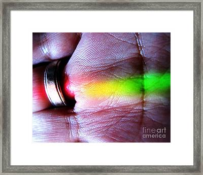 Band Of Rainbow Forensics Framed Print by John King