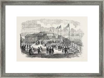 Band Of The 3rd French Regiment Playing In H Framed Print by English School