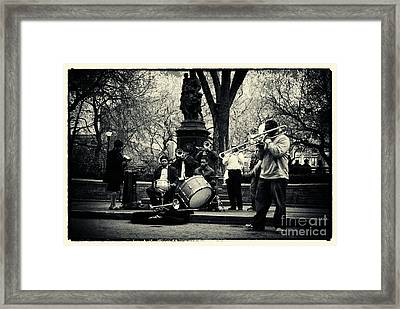 Band On Union Square New York City Framed Print by Sabine Jacobs