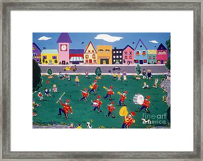 Framed Print featuring the painting Band Practice by Joyce Gebauer
