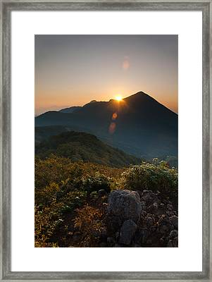 Bandai Sunrise Framed Print by Aaron Bedell