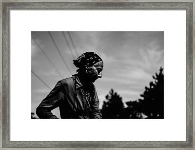 Bandana Lady Framed Print by  Kelly Hayner